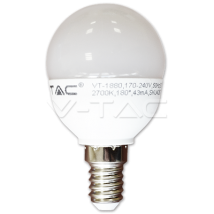LED лампочка - LED Bulb - 6W E14 P45 Warm White